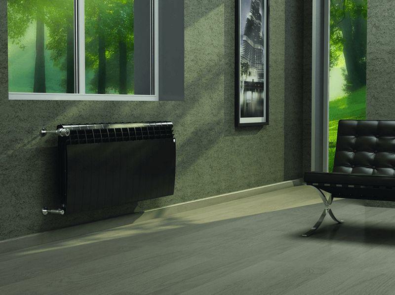 Радиатор отопления Biliner в цветовом исполнении Noir Sable (черный)