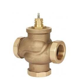 Клапан VRB 3 трехходовой Ду 25, Ру 16, Kvs 10 м3/ч, с внутренней резьбой, Т=130 °С; бронза, фото