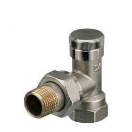 Клапан RLV-15, угловой, никелированный, для бокового присоединения двухтрубной системы отопления., фото