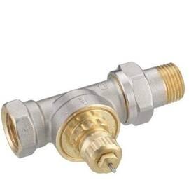 Клапан RA-G-15 прямой, никелир., для однотрубной насосной и двухтрубной гравитац. систем отопления, фото