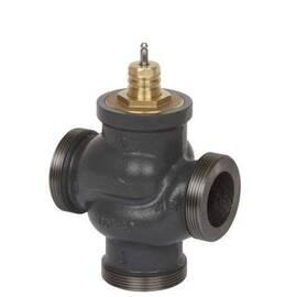 Клапан VRG 3 трехходовой Ду 50, Ру 16, Kvs 40 м3/ч, с наружной резьбой; Т= 130 °С; чугун, фото