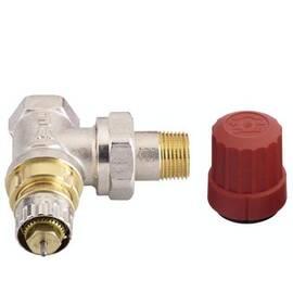 Клапан RA-N-10 угловой, никелированный, для двухтрубной насосной системы отопления, с внутр. резьбой, фото
