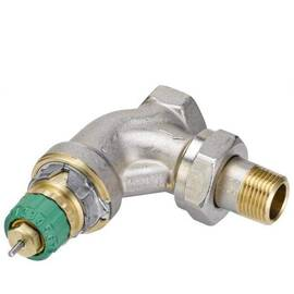 Клапан RA-DV-15 угловой, никелир., для двухтрубной насосной системы отопления,перепад давл. 0,1-0,6, фото
