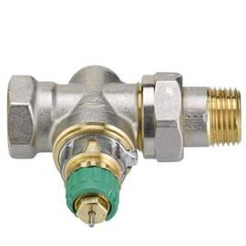 Клапан RA-DV-15 прямой, никелир., для двухтрубной насосной системы отопления,перепад давл. 0,1-0,6, фото