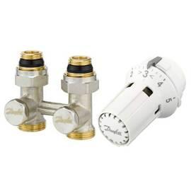 Комплект для радиаторов RLV-KS/RAW-K прямой,с переходниками, для клапанов c резьбой М30х1,5, фото