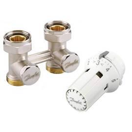 Комплект для радиаторов RLV-KS/RAW-K прямой, для установки на клапаны c резьбой М30х1,5, фото