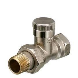 Клапан RLV-10, прямой, никелированный, для бокового присоединения двухтрубной системы отопления., фото