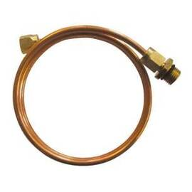 Импульсная трубка AV, материал – медь, ∅ 6 х 1 мм, l = 1500 мм, с резьбовым фитингом R ½, фото