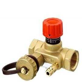 Клапан USV-I с внутр.рез. с фикс.настр, спуск. краном и измер. ниппелем; Ду 25, Ру 16, Kvs 4,0 м3/ч, фото