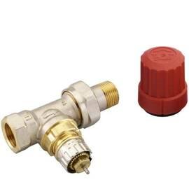 Клапан RA-N-15 прямой, никелированный, для двухтрубной насосной системы отопления, с внутр. резьбой, фото