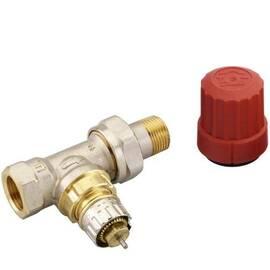 Клапан RA-N-20 прямой, никелированный, для двухтрубной насосной системы отопления, с внутр. резьбой, фото