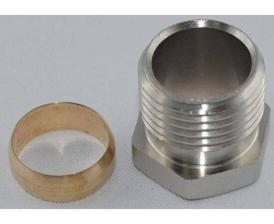 Комплект фитингов для медных труб, диаметр трубы 16 мм, наружная резьба, G ½ A, фото