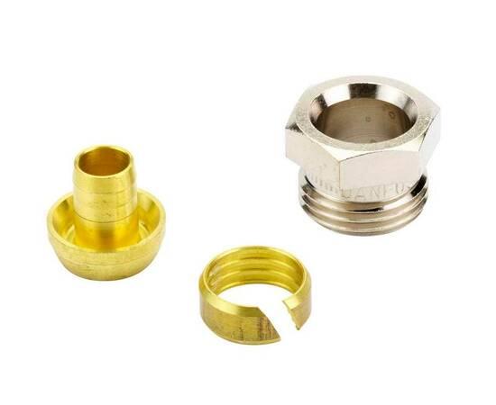Комплект фитингов для полимерных труб, диаметр трубы 15x2,5 мм, наружная резьба, G ½ A, фото