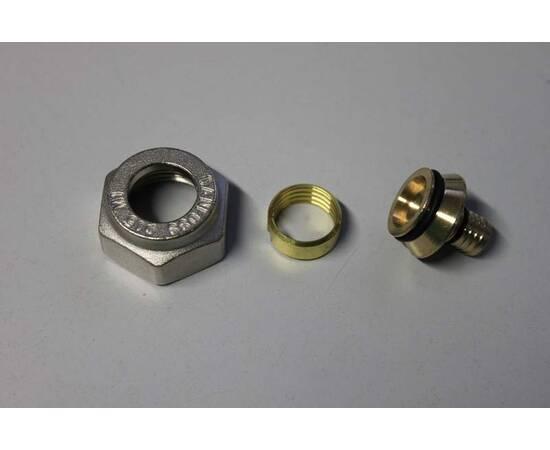 Комплект фитингов для полимерных труб, диаметр трубы 15x2,5 мм, внутренняя резьба, G ¾, фото