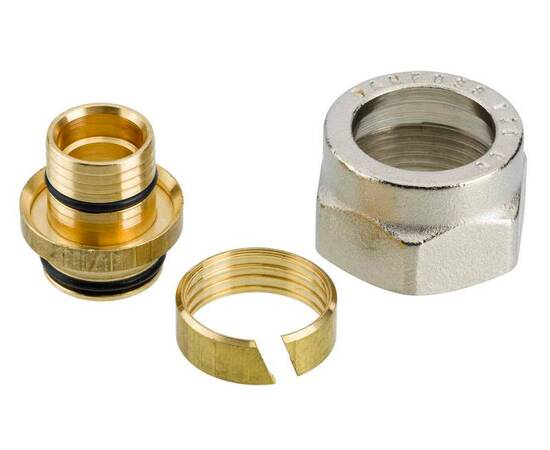 Комплект фитингов для полимерных труб, диаметр трубы 20x2,5 мм, внутренняя резьба, G ¾, фото