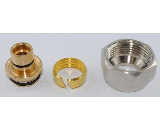 Комплект фитингов для полимерных труб, диаметр трубы 17x2 мм, внутренняя резьба, G ¾, фото